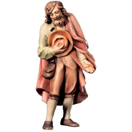 Pastore con cappello in legno