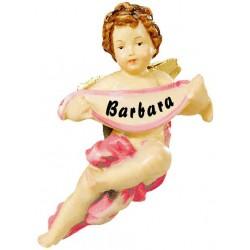 Angioletto scolpito in legno con nome personalizzato - colorato colori pastello