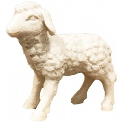 Lamb carved in maple wood