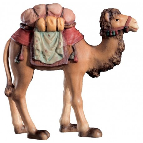 Camel with saddle in wood - color