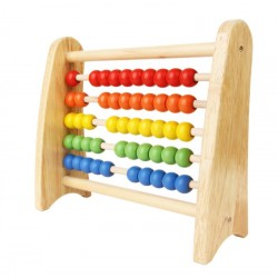 Abacus in maple wood for Children - 22X19cm Gift Ideas for Mom