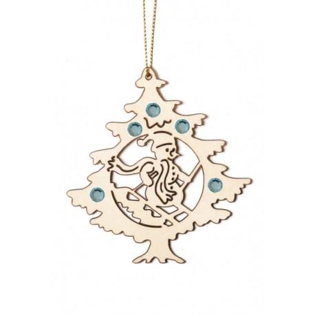Albero di Natale con pupazzo di neve con cristalli Swarovski