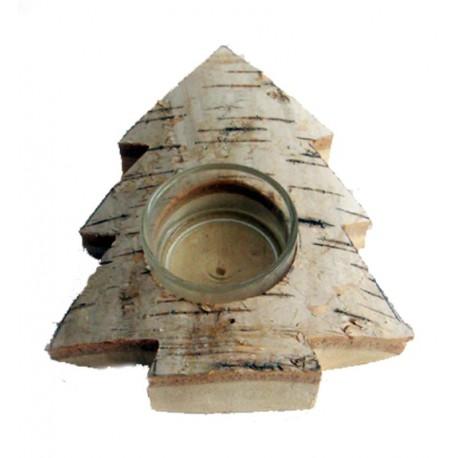 Teelichthalter aus Birkenholz