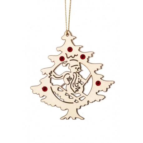 Albero di Natale con omino di neve con cristalli Swarovski