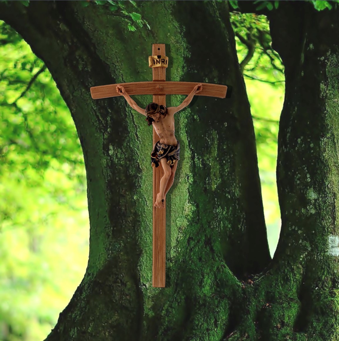 Corpus of Christus carved in natural maple wood