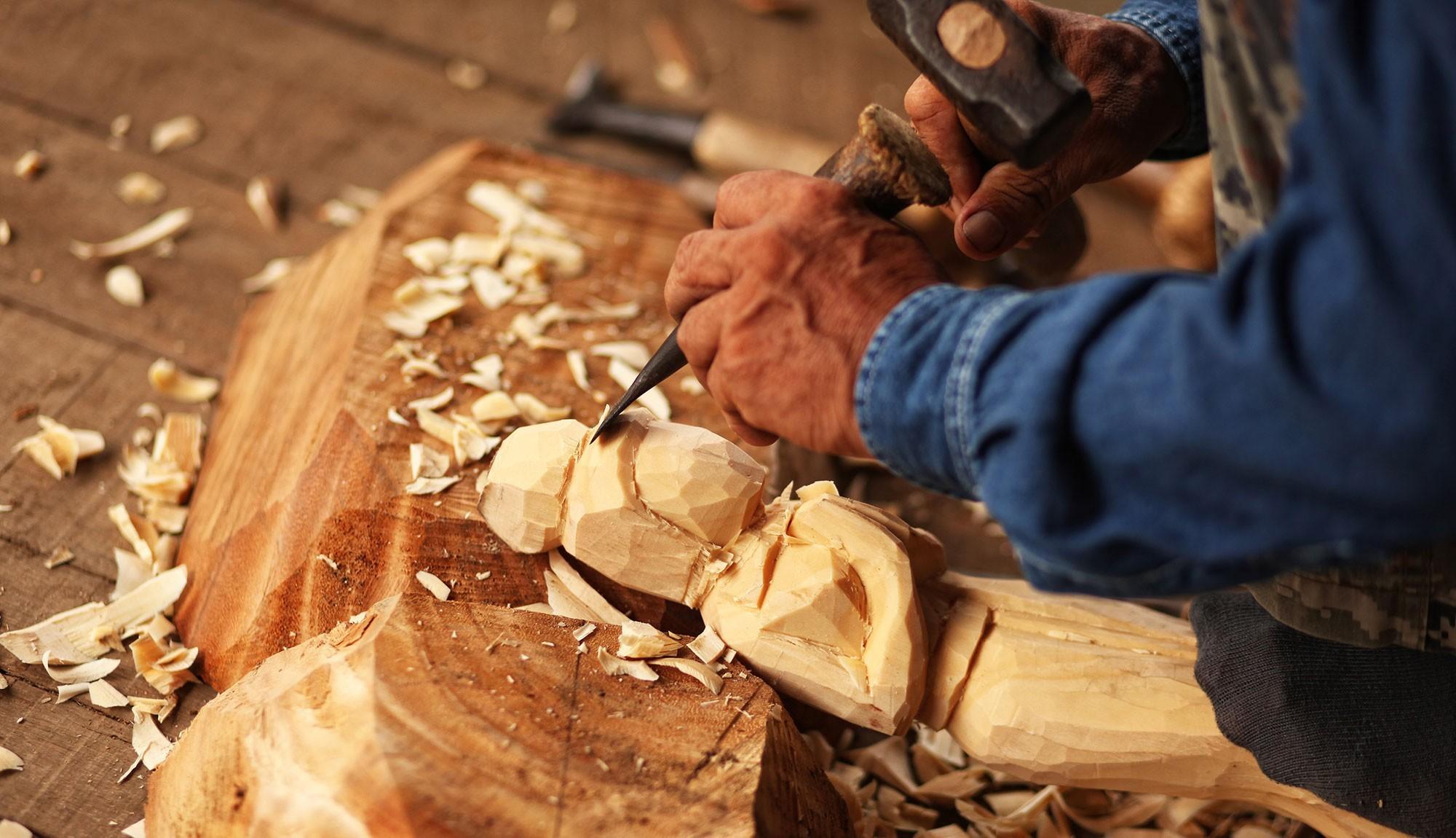 Grödner Holzschnitzereien